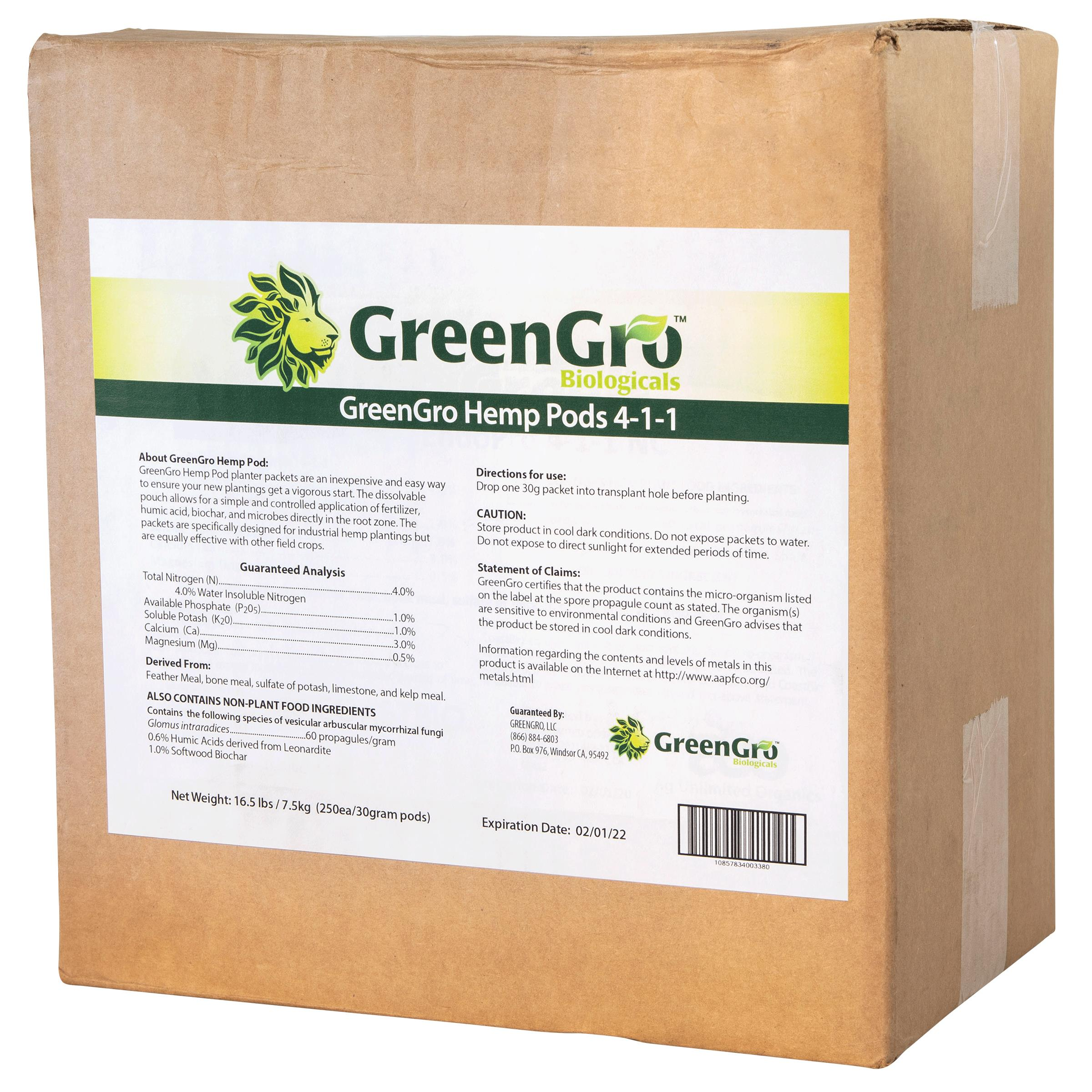 GreenGro™ Hemp Pods 4 - 1 - 1